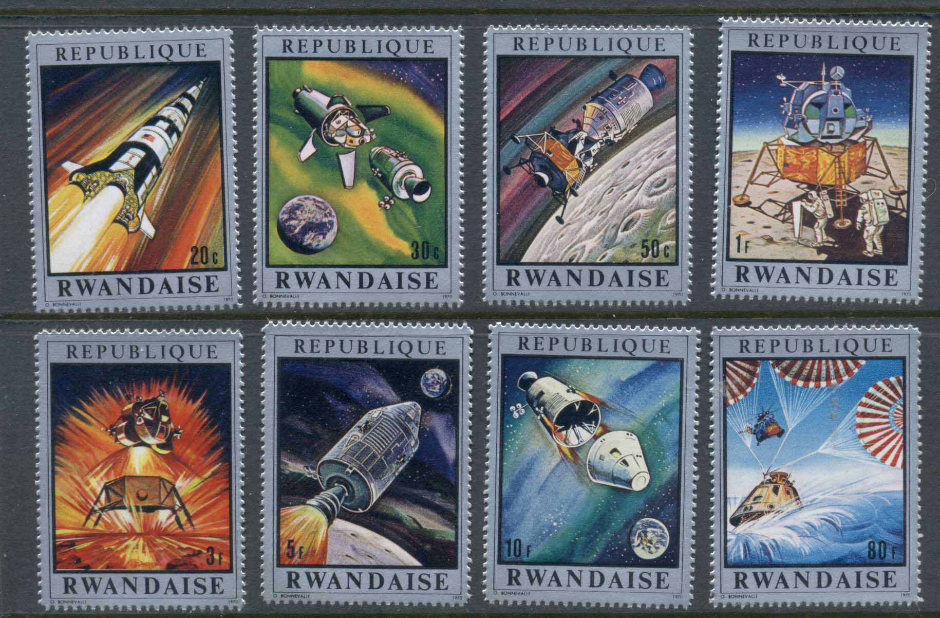 Rwanda 1970 Conquest of Space MUH