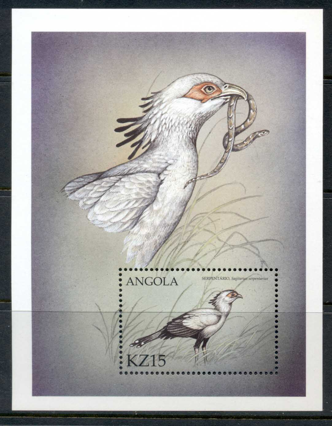 Angola 2000 Birds of Prey MS KZ15 MUH