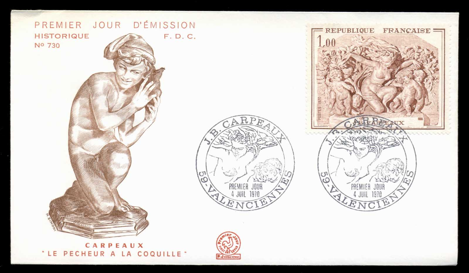 France 1970 Art, The Triumph of Flora FDC