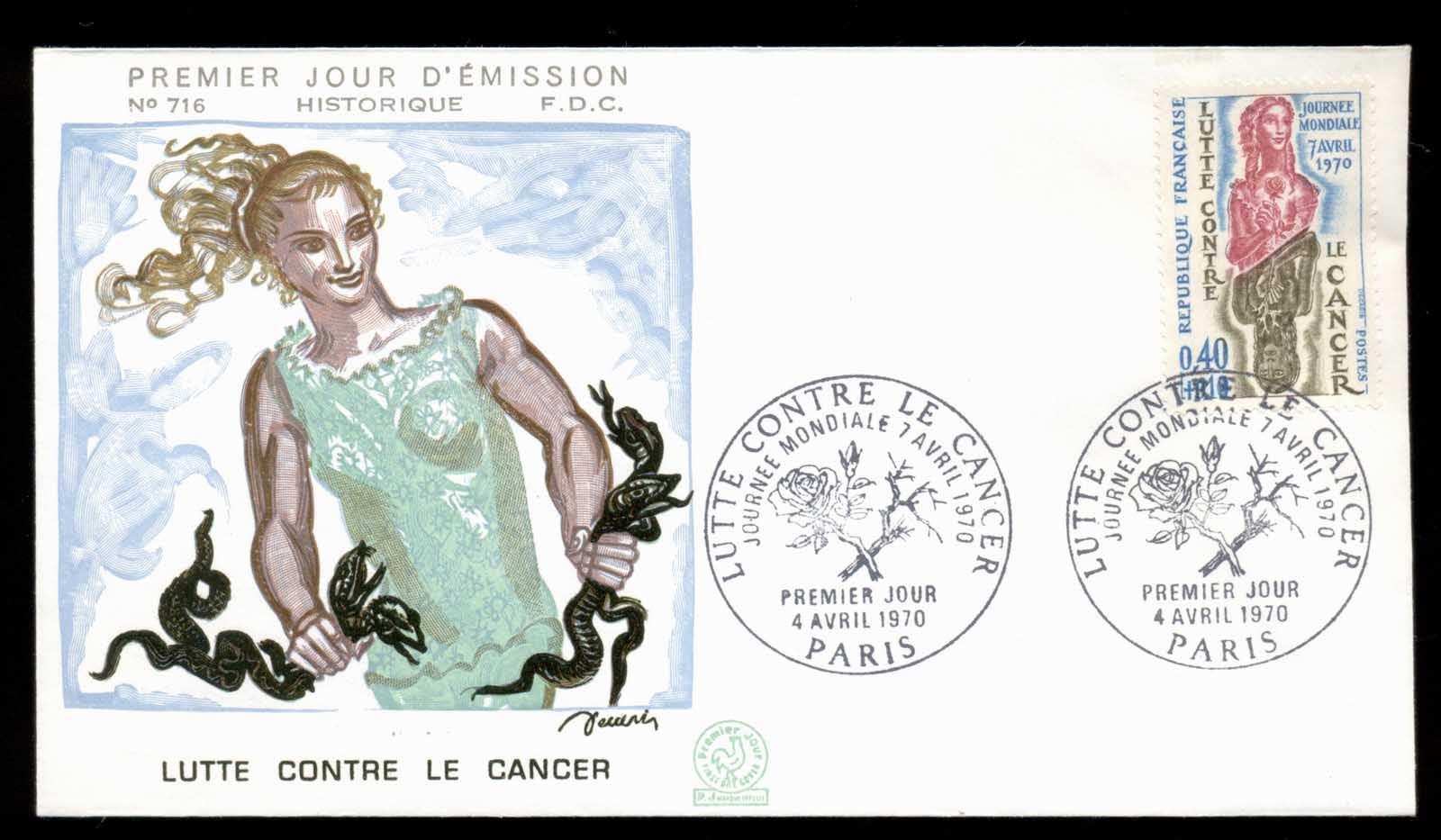 France 1970 Anti Cancer FDC