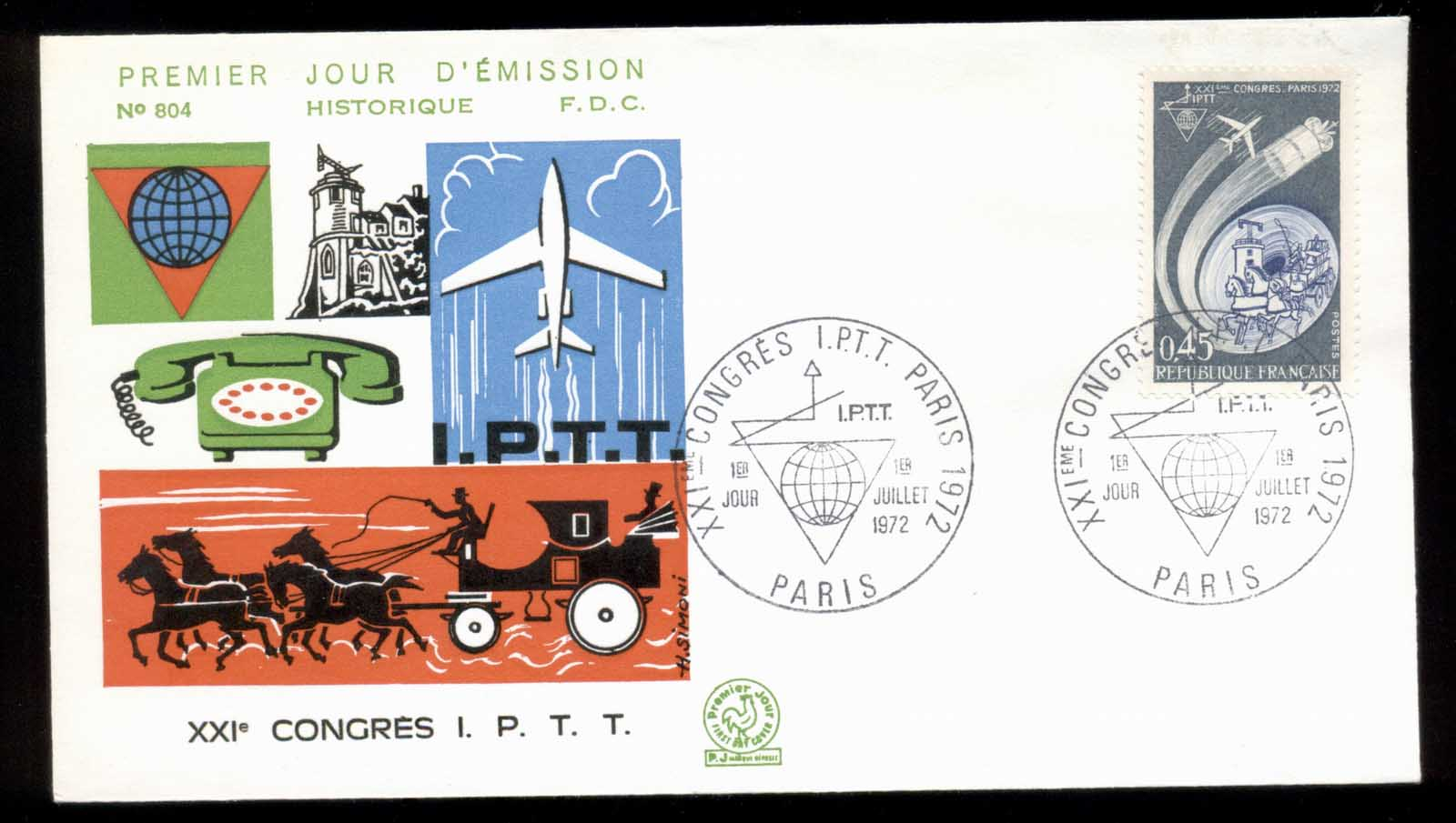 France 1972 Old & New Communications FDC