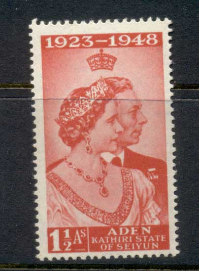 Aden 1949 Silver Wedding 12a MLH
