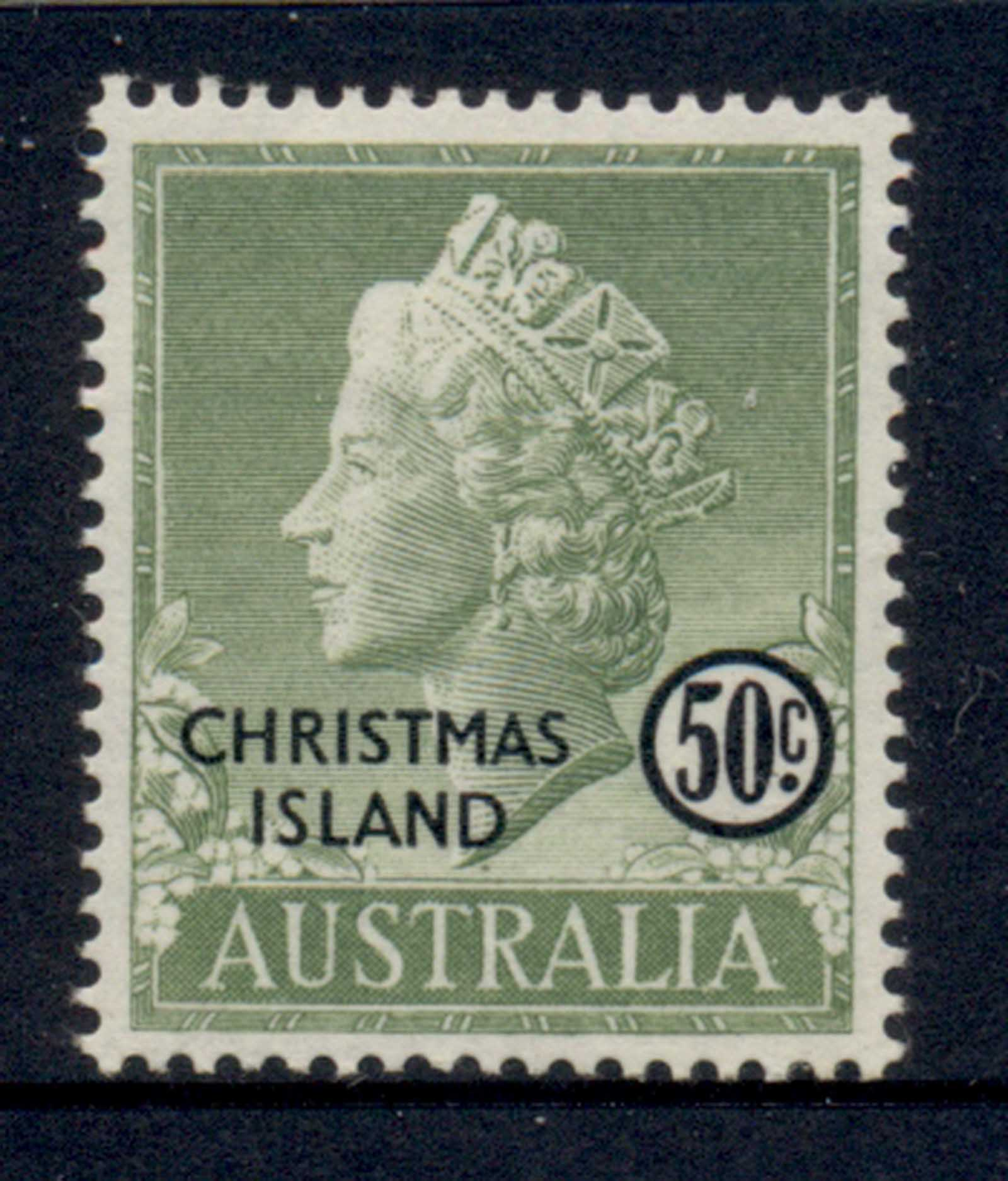 Christmas Is 1958 QEII Portrait 50c MLH - Click Image to Close