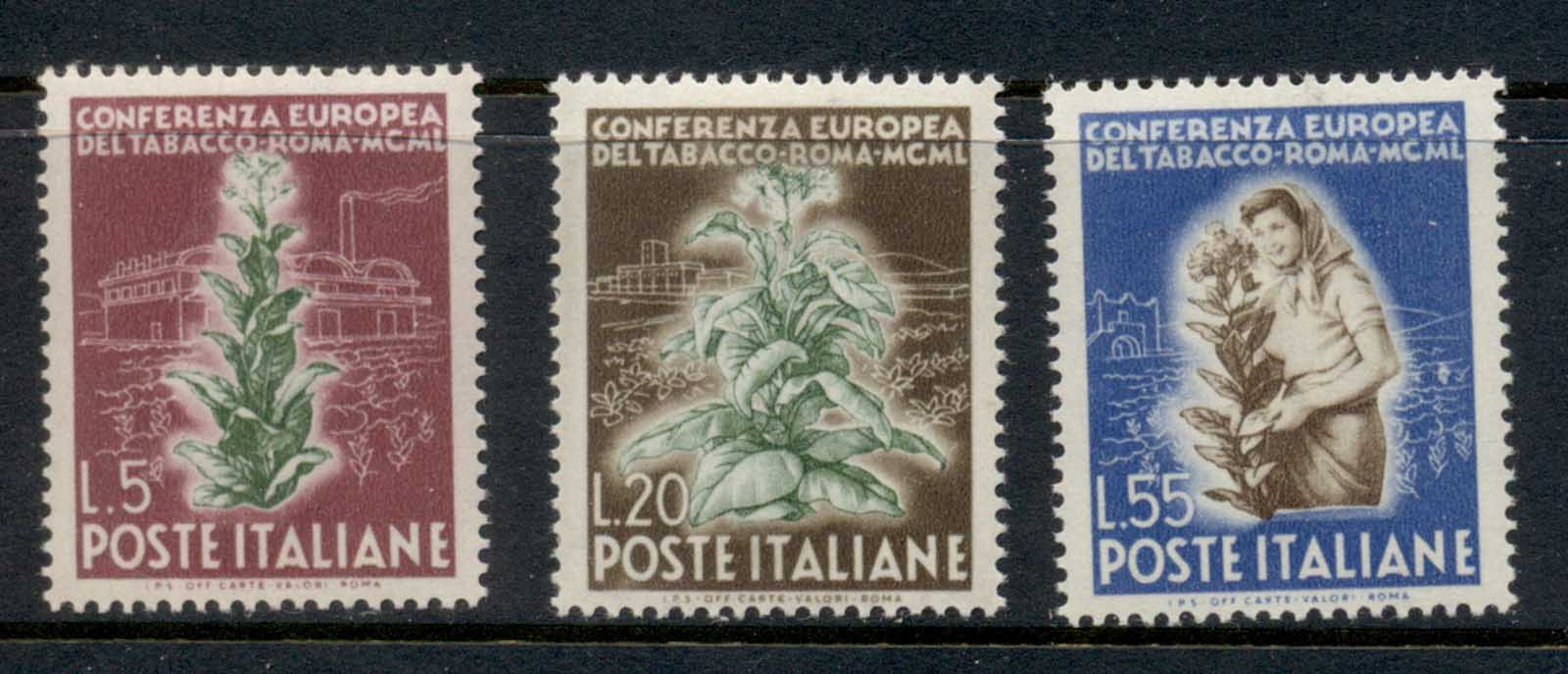 Italy 1950 European Tobacco Conference MUH
