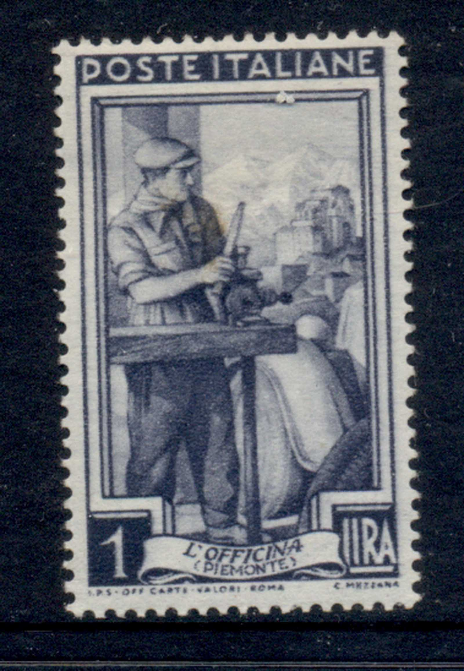 Italy 1950 Workers 1l (stain) MLH