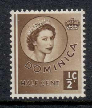 Dominica 1954 QEII Pictorial 0.5c MLH