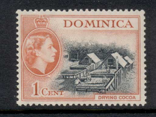 Dominica 1954 QEII Pictorial 1c MLH