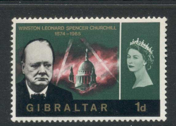 Gibraltar 1966 Churchill 1d MLH