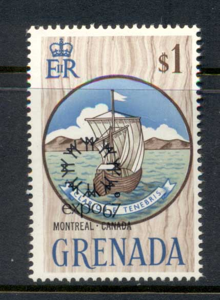 Grenada 1967 Montreal Expo $1 MLH