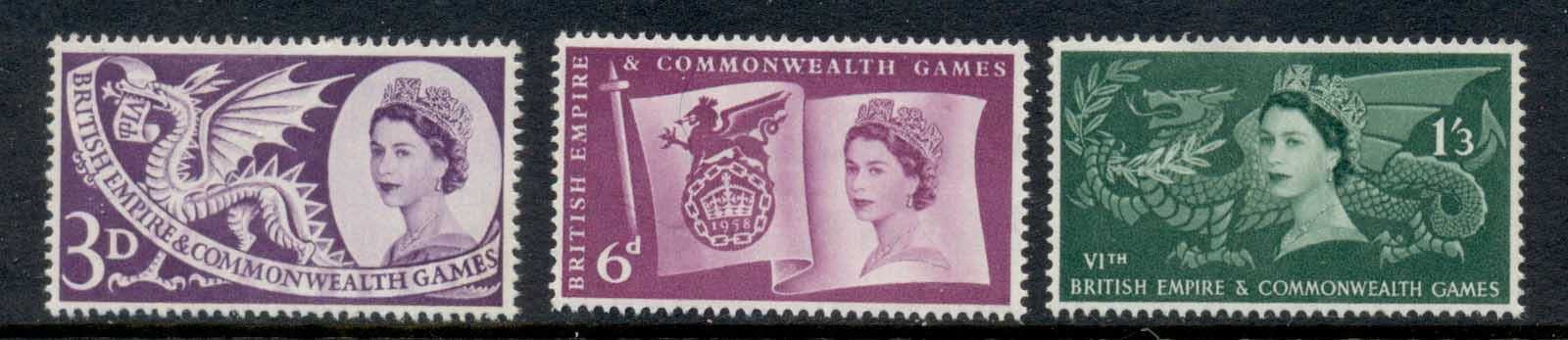 GB 1958 Empire & Commonwealth Games MLH