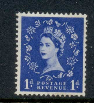 GB 1955-57 QEII Wildings, Wmk. St. Edwards Crown 1d MLH