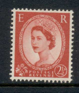GB 1955-57 QEII Wildings, Wmk. St. Edwards Crown 2.5d Ty.I MLH