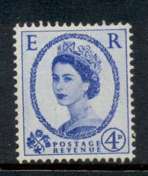 GB 1955-57 QEII Wildings, Wmk. St. Edwards Crown 4d MLH