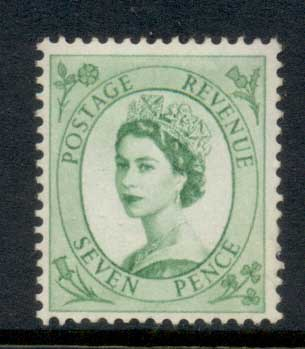 GB 1955-57 QEII Wildings, Wmk. St. Edwards Crown 7d MLH
