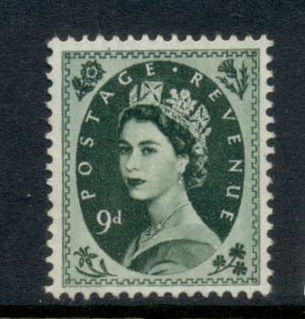GB 1955-57 QEII Wildings, Wmk. St. Edwards Crown 9d MLH