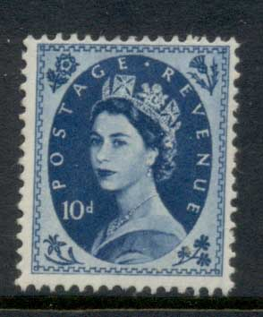 GB 1955-57 QEII Wildings, Wmk. St. Edwards Crown 10d MLH