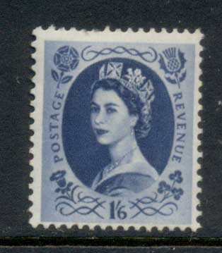GB 1955-57 QEII Wildings, Wmk. St. Edwards Crown 1/6d MLH