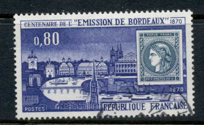 France 1970 Centenary of Bordeaux issue FU