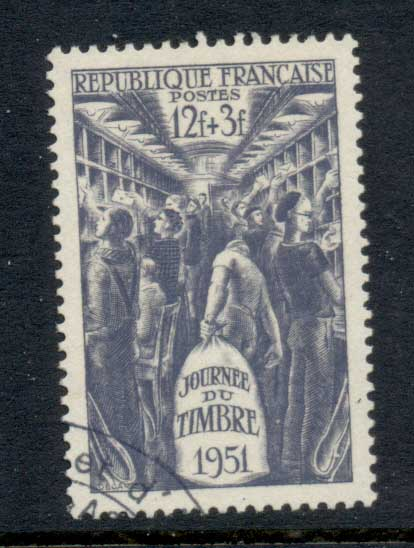 France 1951 Stamp day FU