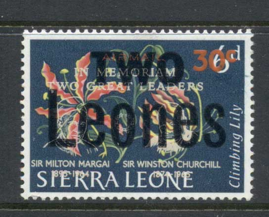 Sierra Leone 1966 Flowers Surch 2l on 30c on 6d MLH