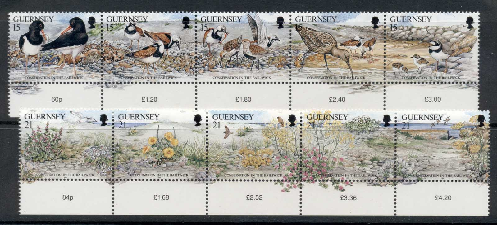 Guernsey 1991 Birds & Plants MUH