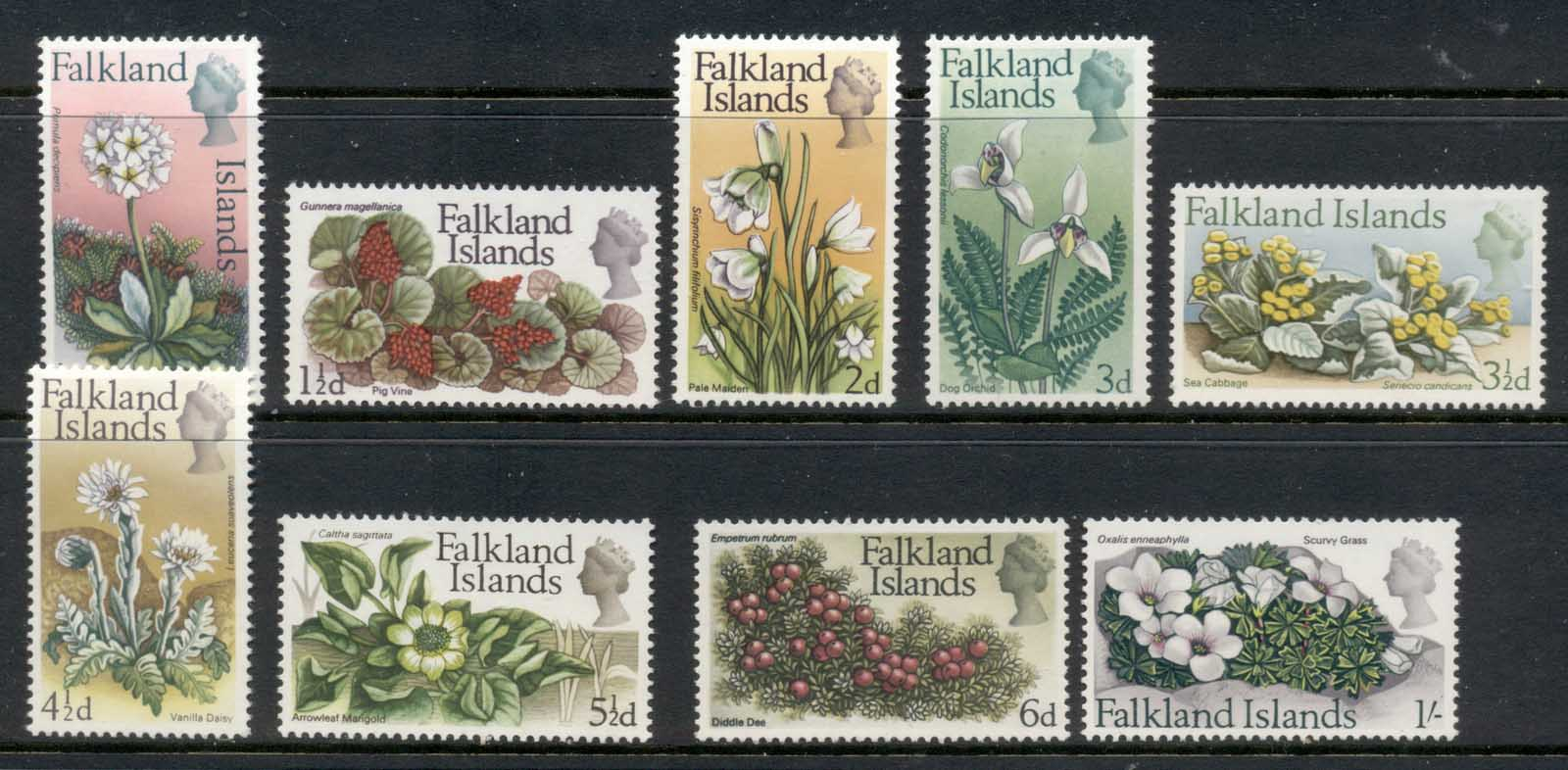 Falkland Is 1968 Flowers to 1/- MUH