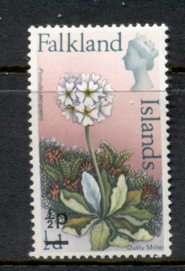 Falkland Is 1971 Flowers Surch 0.5p on 0.5d MLH