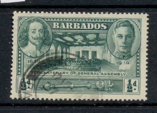 Barbados 1939 Tercentenary of General Assembly 0.5d FU