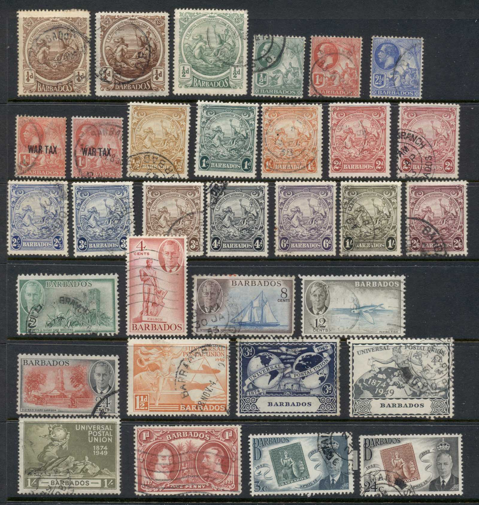 Barbados 1916 on Assorted Oddments FU