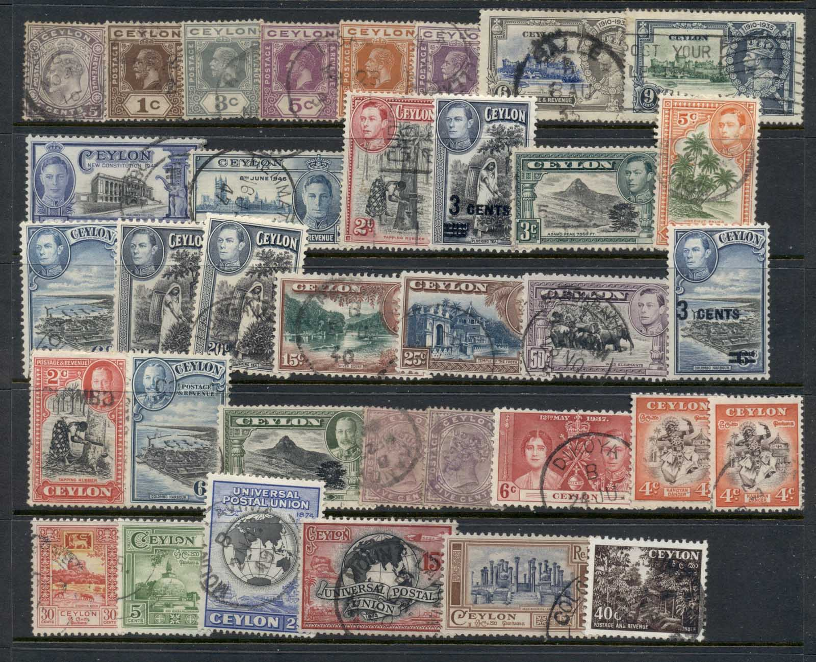 Ceylon 1930's on Assorted oddments FU
