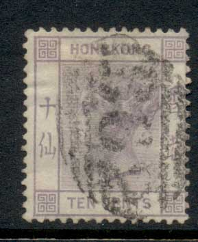 Hong Kong 1882-1902 QV Portrait, Wmk Crown CA 10c FU