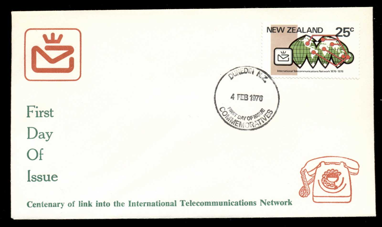 New Zealand 1976 Telephone Centenary, Alexander Graham Bell FDC