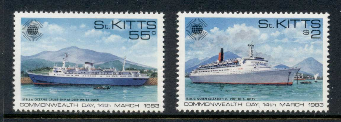 St Kitts 1983 Commonwealth Day, Ships MUH