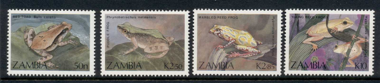 Zambia 1989 Frogs & Toads MUH