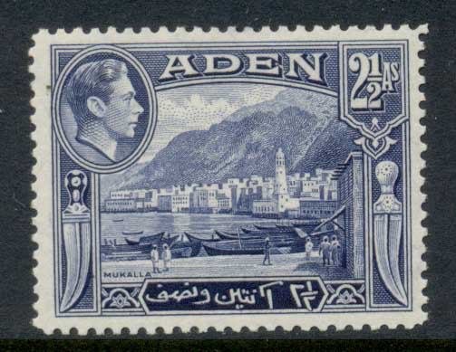 Aden 1939-48 KGVI Pictorial 2.5a MUH