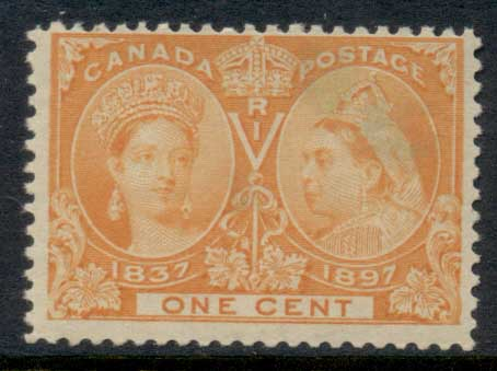 Canada 1897 QV Jubilee 1c (stain)MUH