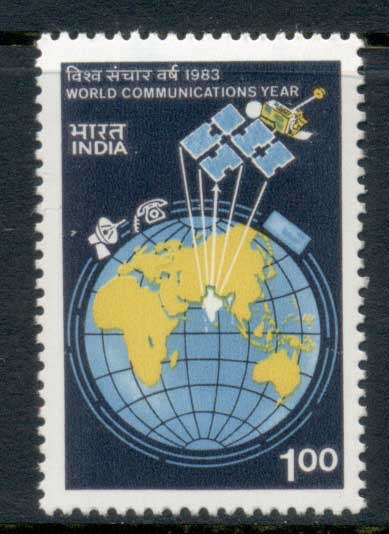 India 1983 World Communications Year MUH