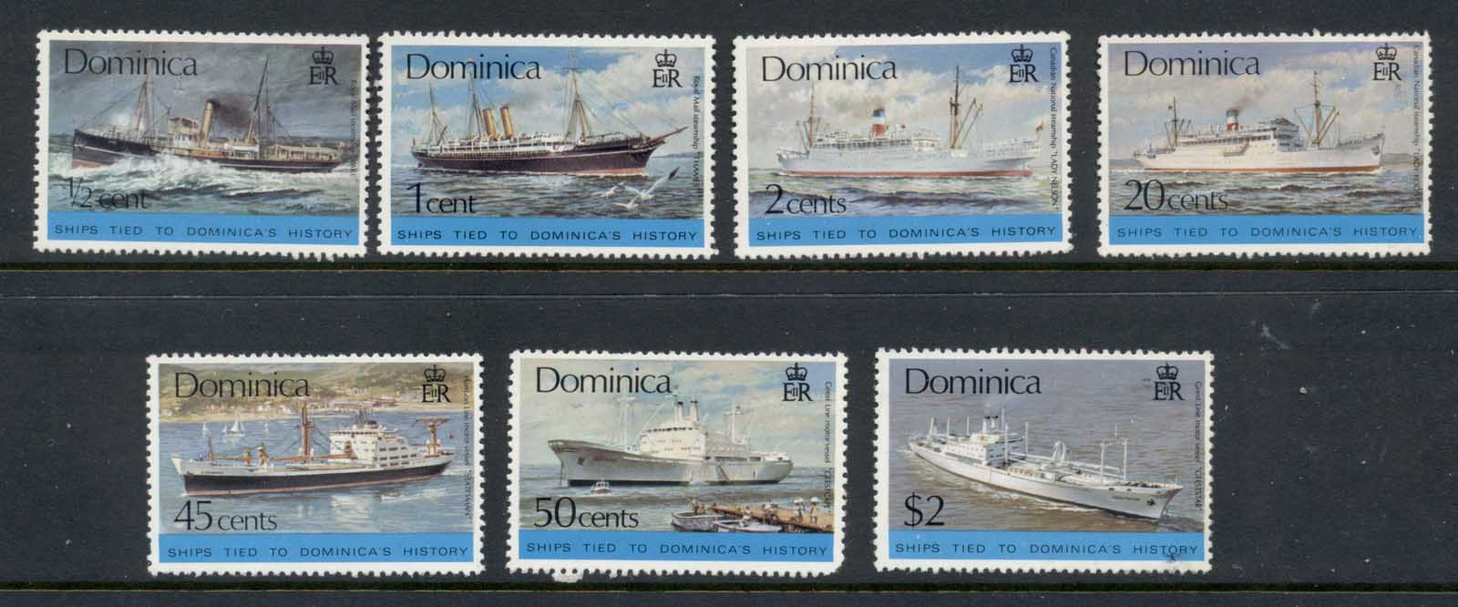 Dominica 1975 Ships MLH