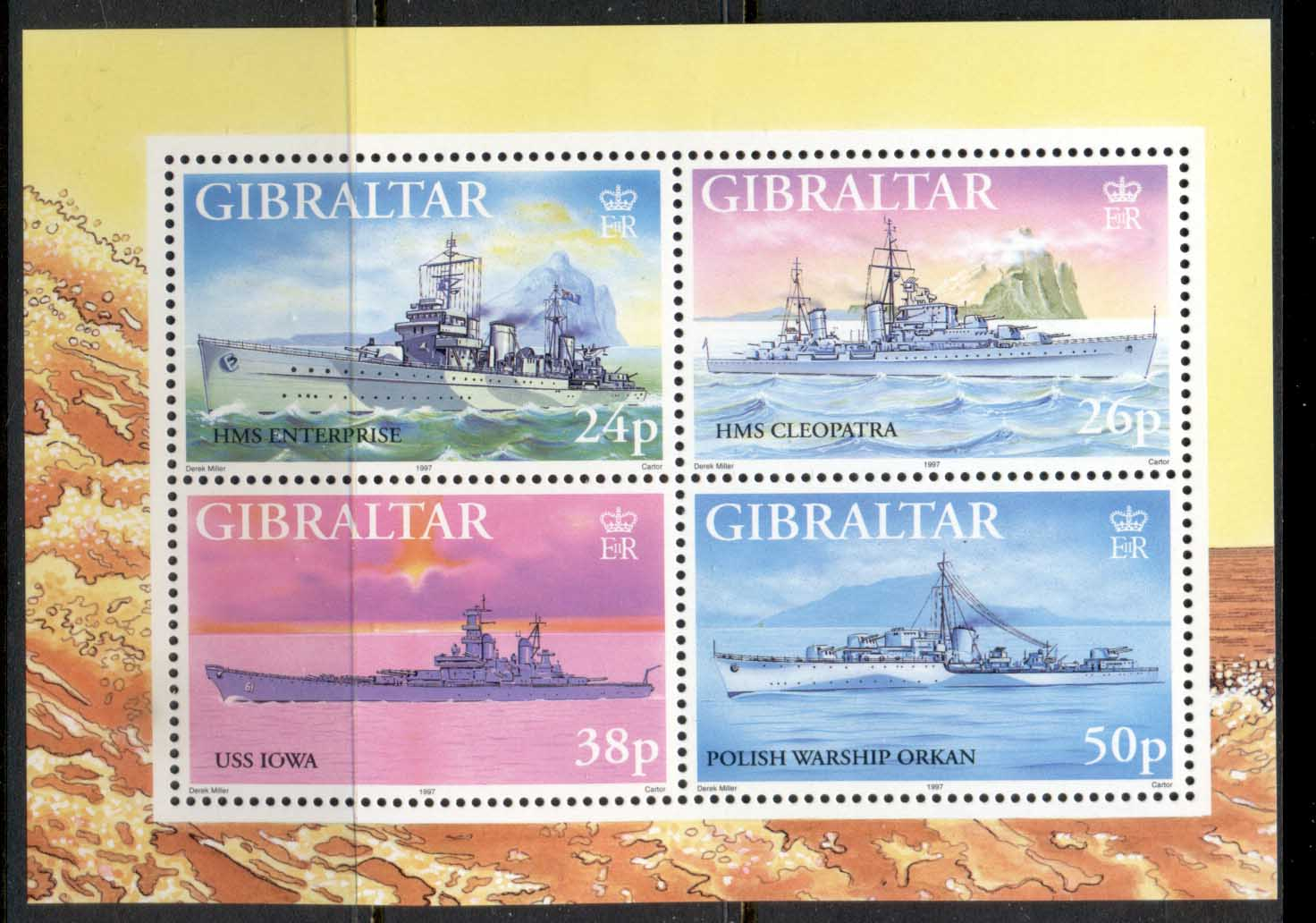 Gibraltar 1997 WWII Warships MS MLH