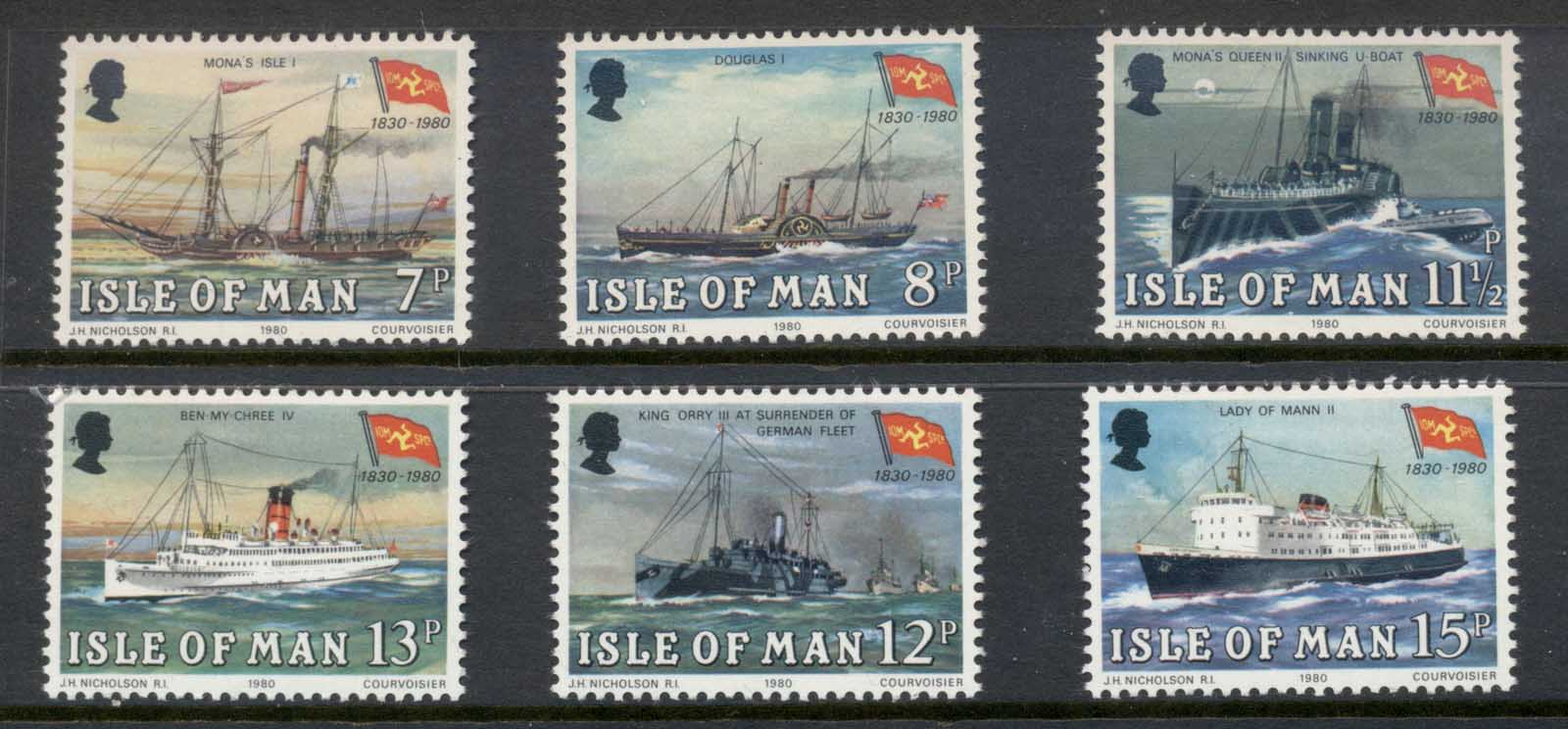 Isle of Man 1980 Steam Packet Co. Ships MLH