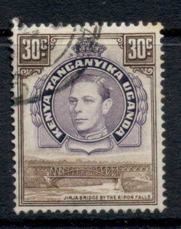 Kenya Uganda & Tanganyika 1938-54 KGVI Pictorial 30c brown & purple FU