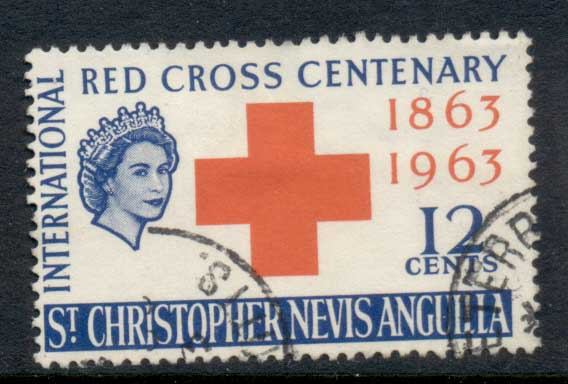 St Christopher Nevis Anguilla 1963 red Cross Cent. FU