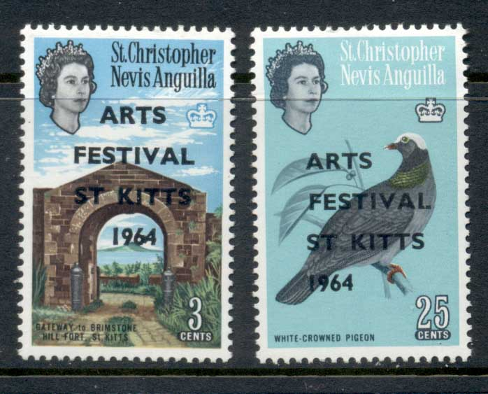 St Christopher Nevis Anguilla 1964 Arts festival Opts MUH