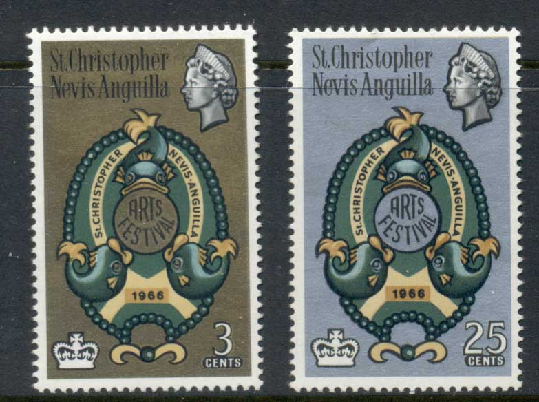 St Christopher Nevis Anguilla 1966 Arts festival MUH