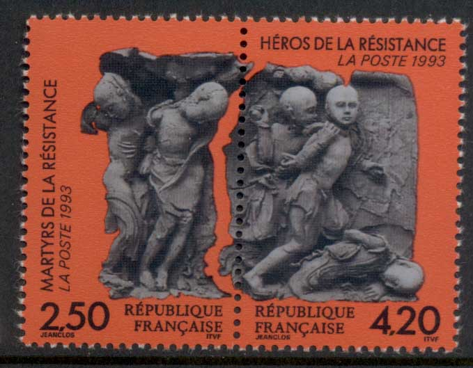 France 1993 Martyrs & Heroes of the Resistance MUH