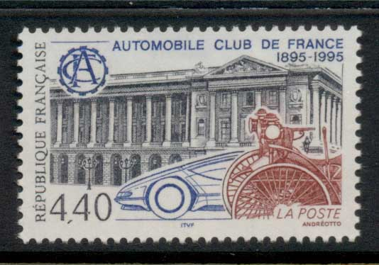 France 1995 Automobile Clubs MUH