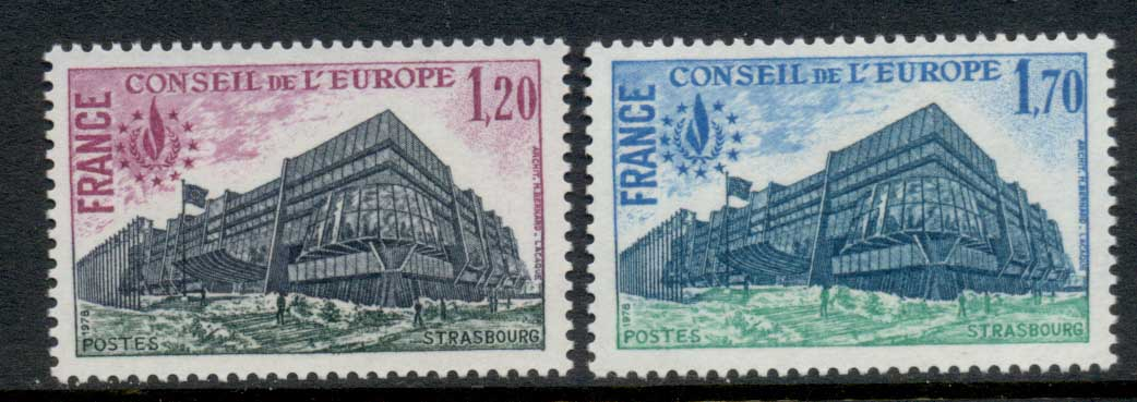 France 1978 Council of Europe, Strasbourg HQ, Declaration of Human Rights MUH