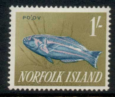 Norfolk Is 1962-64 Pictorials, Fish 1/- MLH