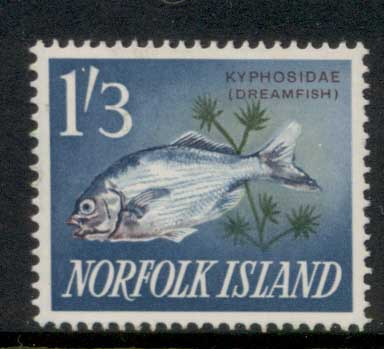 Norfolk Is 1962-64 Pictorials, Fish 1/3d MLH