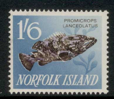 Norfolk Is 1962-64 Pictorials, Fish 1/6d MLH